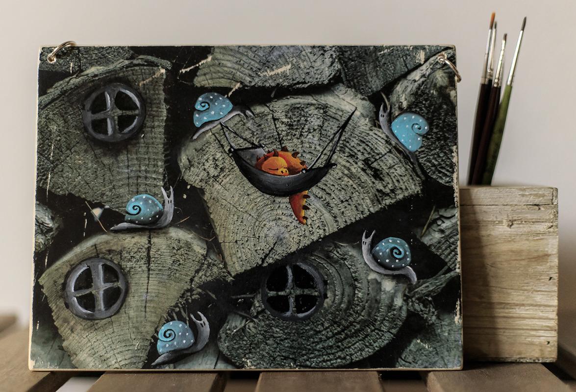 decorazioni-murali-fotografia-illustrata-su-legno-17373867-drago-e-lumache-jpg-81ca4_big